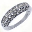.68 CARAT WOMENS ANTIQUE ROUND CUT DIAMOND RING WEDDING BAND 14K WHITE GOLD