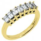 1 CARAT WOMENS BAGUETTE CUT DIAMOND RING WEDDING BAND YELLOW GOLD