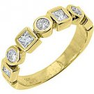 .68CT WOMENS BRILLIANT ROUND PRINCESS CUT DIAMOND RING WEDDING BAND YELLOW GOLD