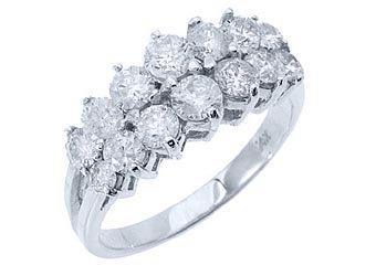 1.7 CARAT WOMENS BRILLIANT ROUND CUT DIAMOND RING WEDDING BAND 14KT WHITE GOLD