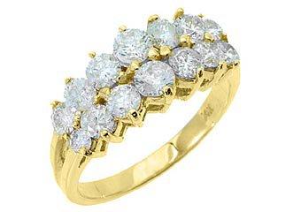 1.7 CARAT WOMENS BRILLIANT ROUND CUT DIAMOND RING WEDDING BAND 14KT YELLOW GOLD