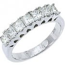 1.25 CARAT WOMENS PRINCESS SQUARE CUT DIAMOND RING WEDDING BAND WHITE GOLD