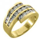1.6 CARAT WOMENS BRILLIANT ROUND CUT DIAMOND RING WEDDING BAND YELLOW GOLD