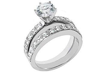2.39CT WOMENS DIAMOND ENGAGEMENT RING WEDDING BAND BRIDAL SET ROUND WHITE GOLD