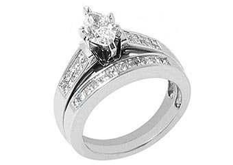 1.5CT WOMENS DIAMOND ENGAGEMENT RING WEDDING BAND MARQUISE CUT WHITE GOLD SI2-3