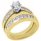 2.15 CARAT WOMENS DIAMOND ENGAGEMENT RING WEDDING BAND BRIDAL SET ROUND CUT