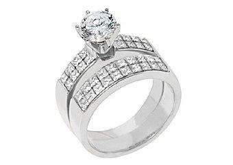 2.5CT WOMENS DIAMOND ENGAGEMENT RING WEDDING BAND BRIDAL SET ROUND WHITE GOLD