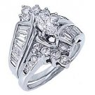 2.5CT WOMENS DIAMOND ENGAGEMENT RING WEDDING BAND BRIDAL SET MARQUISE CUT SHAPE