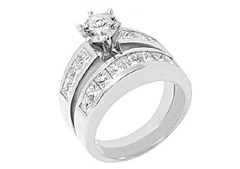 3.33CT WOMENS DIAMOND ENGAGEMENT RING WEDDING BAND BRIDAL SET ROUND WHITE GOLD