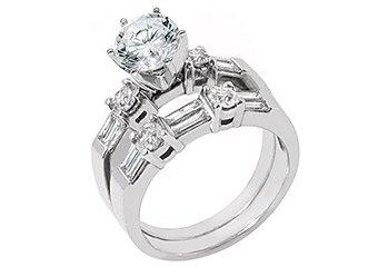 1.76CT WOMENS DIAMOND ENGAGEMENT RING WEDDING BAND BRIDAL SET ROUND WHITE GOLD