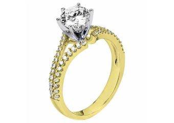 WOMENS DIAMOND ENGAGEMENT RING ROUND CUT 1.34 CARAT 14K YELLOW GOLD