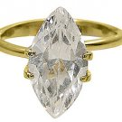 1 CARAT WOMENS SOLITAIRE MARQUISE SHAPE CUT DIAMOND ENGAGEMENT RING YELLOW GOLD