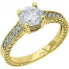 1.26CT WOMENS DIAMOND ENGAGEMENT WEDDING RING BRILLIANT ROUND CUT YELLOW GOLD