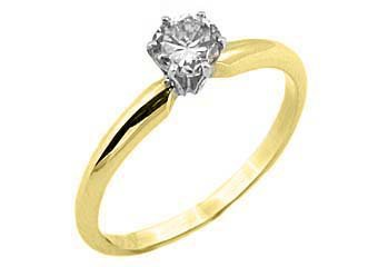 .63 CARAT SOLITAIRE BRILLIANT ROUND CUT DIAMOND PROMISE RING YELLOW GOLD G COLOR
