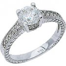 1.26CT WOMENS DIAMOND ENGAGEMENT WEDDING RING BRILLIANT ROUND CUT WHITE GOLD