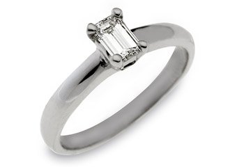 1 CARAT WOMENS SOLITAIRE EMERALD CUT DIAMOND ENGAGEMENT RING VS2 WHITE GOLD