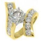 5 CARAT WOMENS DIAMOND ENGAGEMENT WEDDING RING BRILLIANT ROUND CUT YELLOW GOLD