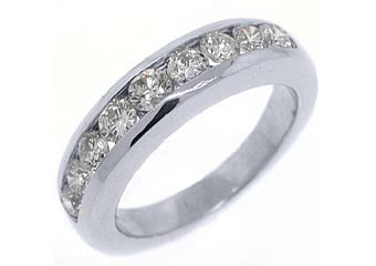 1.12 CARAT WOMENS BRILLIANT ROUND CUT DIAMOND RING WEDDING BAND WHITE GOLD