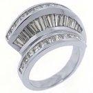 2.78CT WOMENS PRINCESS SQUARE BAGUETTE CUT DIAMOND RING WEDDING BAND WHITE GOLD