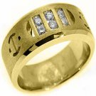 MENS .40 CARAT BRILLIANT ROUND CUT DIAMOND RING WEDDING BAND 14KT YELLOW GOLD