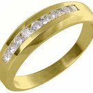 MENS 1.5 CARAT BRILLIANT ROUND CUT DIAMOND RING WEDDING BAND 14KT YELLOW GOLD