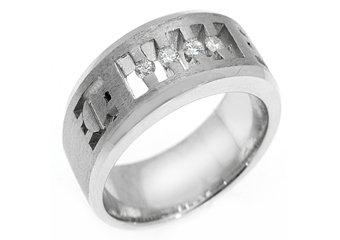 MENS 1/4 CARAT BRILLIANT ROUND CUT DIAMOND RING WEDDING BAND 14KT WHITE GOLD