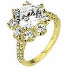 WOMENS DIAMOND ENGAGEMENT RING ROUND CUT 2.13 CARAT 18K YELLOW GOLD