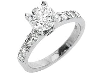 1.7 CARAT WOMENS DIAMOND ENGAGEMENT WEDDING RING BRILLIANT ROUND CUT WHITE GOLD