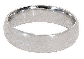 MENS 950 PLATINUM WEDDING BAND ENGAGEMENT RING COMFORT FIT SIZE 8 8.5 6mm