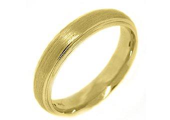 MENS WEDDING BAND ENGAGEMENT RING 14K YELLOW GOLD BRUSHED SAND FINISH 4.5mm