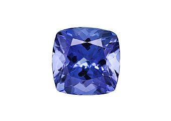 Cushion Cut Shape Blue AA Tanzanite 8mm 2.70 Carat Loose Gem Stone