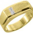 MENS 1/4 CARAT PRINCESS SQUARE CUT DIAMOND RING WEDDING BAND 14KT YELLOW GOLD