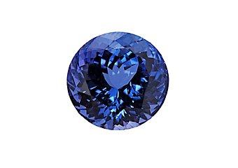 Brilliant Round Cut Blue AA Tanzanite 8mm 2.00 Carats Loose Gem Stone