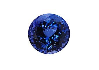 Brilliant Round Cut Deep Blue AAA Tanzanite 6mm .85 Carats Loose Gem Stone