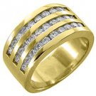 1.33 CARAT WOMENS BRILLIANT ROUND CUT DIAMOND RING WEDDING BAND YELLOW GOLD