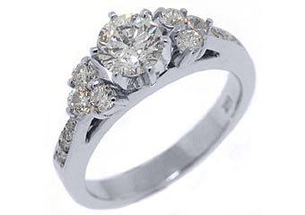 1.5 CARAT WOMENS DIAMOND ENGAGEMENT WEDDING RING BRILLIANT ROUND CUT WHITE GOLD