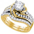 WOMENS DIAMOND ENGAGEMENT RING WEDDING BAND BRIDAL SET 1.75 CARAT ROUND CUT