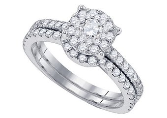 WOMENS DIAMOND ENGAGEMENT RING WEDDING BAND BRIDAL SET ROUND CUT 1.16 CARAT