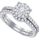 WOMENS DIAMOND ENGAGEMENT RING WEDDING BAND BRIDAL SET ROUND CUT 1.16 CARAT