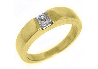 .45CT WOMENS SOLITAIRE PRINCESS SQUARE CUT DIAMOND ENGAGEMENT RING YELLOW GOLD