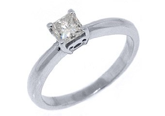 .48CT WOMENS SOLITAIRE PRINCESS SQUARE CUT DIAMOND ENGAGEMENT RING WHITE GOLD