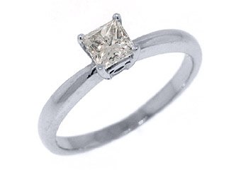 .56CT WOMENS SOLITAIRE PRINCESS SQUARE CUT DIAMOND ENGAGEMENT RING WHITE GOLD
