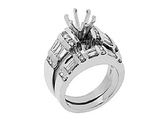 2.2 CARAT WOMENS DIAMOND ENGAGEMENT RING SEMI-MOUNT SET ROUND CUT WHITE GOLD