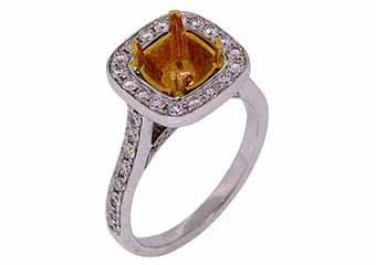 .88 CARAT WOMENS DIAMOND HALO ENGAGEMENT RING SEMI-MOUNT ROUND CUT WHITE GOLD