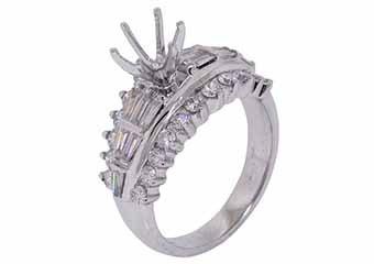 1.35 CARAT WOMENS DIAMOND ENGAGEMENT RING SEMI-MOUNT ROUND CUT WHITE GOLD
