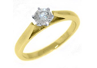 2/5 CARAT WOMENS SOLITAIRE BRILLIANT ROUND DIAMOND ENGAGEMENT RING YELLOW GOLD