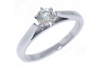 2/5 CARAT WOMENS SOLITAIRE BRILLIANT ROUND DIAMOND ENGAGEMENT RING WHITE GOLD
