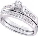 WOMENS DIAMOND ENGAGEMENT RING WEDDING BAND BRIDAL SET ROUND .50 CARATS