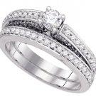 WOMENS DIAMOND ENGAGEMENT RING WEDDING BAND BRIDAL SET ROUND 1.03 CARATS