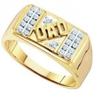 DIAMOND RING FATHERS DAY GIFT DAD 10k YELLOW GOLD .12 CARATS
